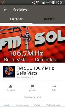 Fm Sol 106.7 Bella Vista apk screenshot