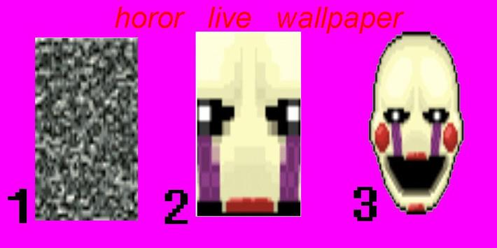 live wallpaper for animatronics faces poster