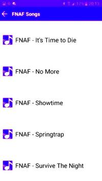 Free FNAF Songs 12345 screenshot 1