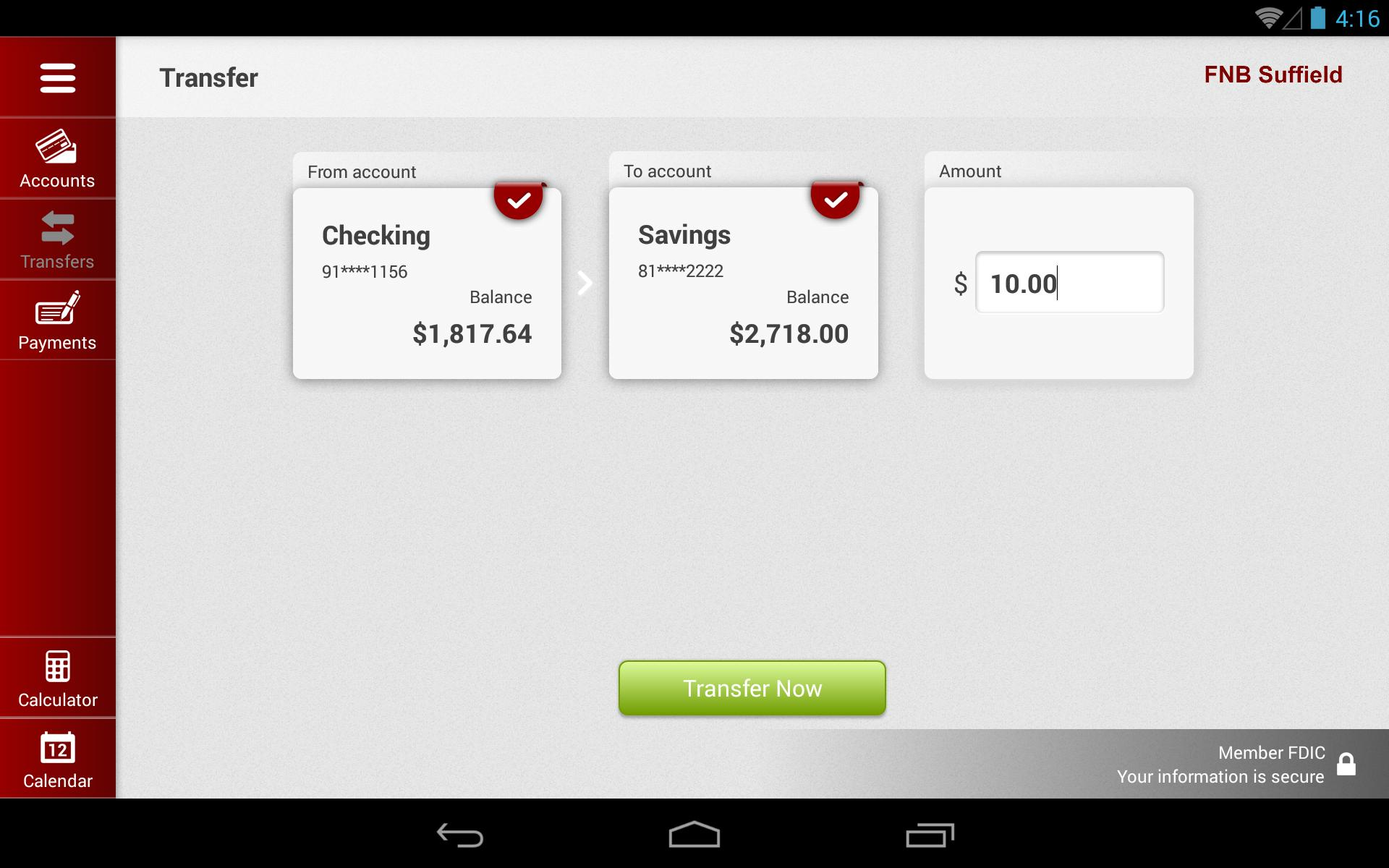 FNB Suffield for Tablet for Android - APK Download