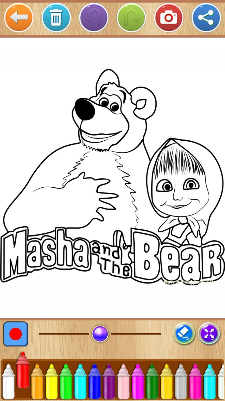 Masha And The Bear Coloring For Android Apk Download