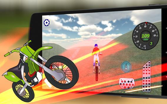 Offroad Dirt Motorbike 3D Race screenshot 2