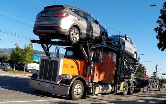 Truck Car Transport Parking 3D poster