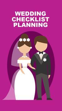 Wedding Checklist Planning poster