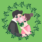 Wedding Flower Bouquets Design icon