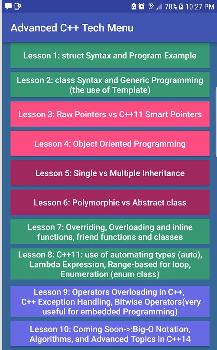 Advanced C++ Tech for Android - APK Download