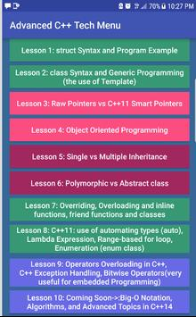 Advanced C++ Tech screenshot 1