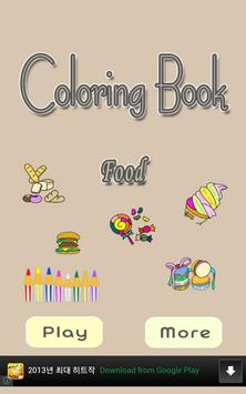 Coloring Book for Kids (food) poster