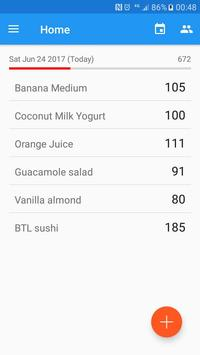 Food Journal And Simple Calorie Counter screenshot 1