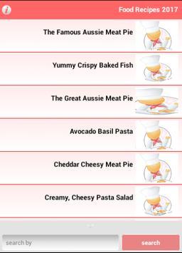 Food Recipes 2017 apk screenshot