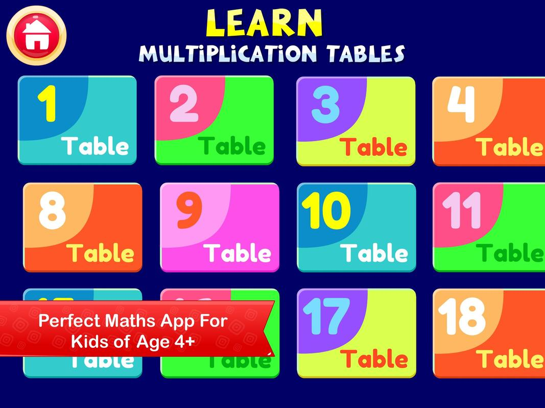 Multiplication Tables : Maths Games for Kids APK Download - Free ...