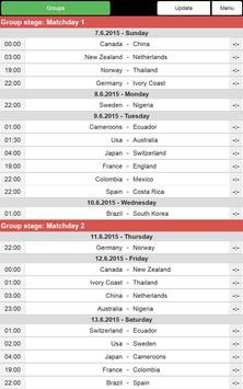 Women Football WC 2015 Schedu. screenshot 8