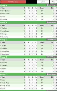 Women Football WC 2015 Schedu. screenshot 9