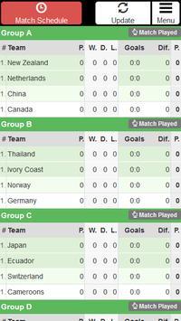 Women Football WC 2015 Schedu. screenshot 1