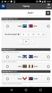 Reece NRL Footy Tipping apk screenshot