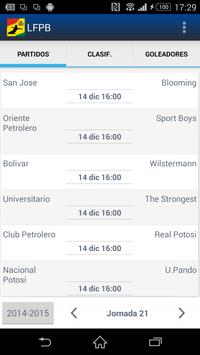 LFPB, Liga de Fútbol Boliviano poster