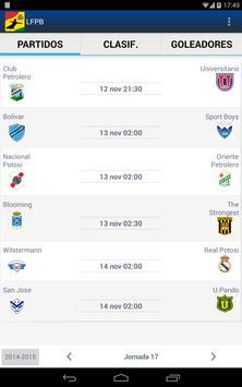 LFPB, Liga de Fútbol Boliviano screenshot 6