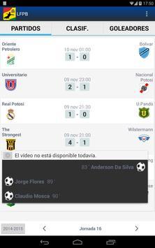 LFPB, Liga de Fútbol Boliviano screenshot 7