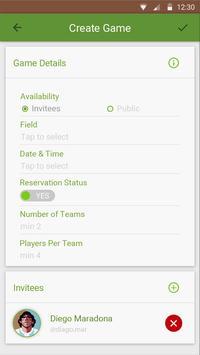Footballers screenshot 1