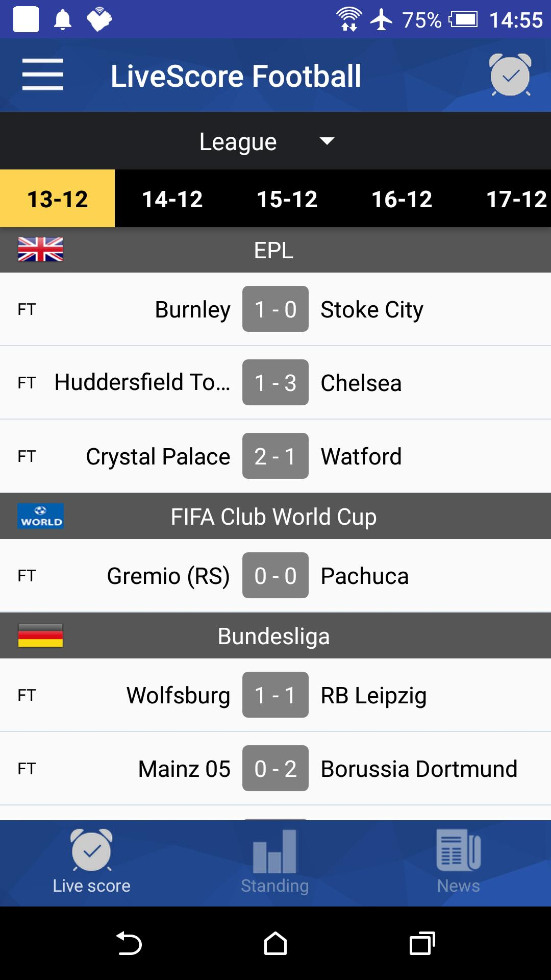 Football Live Scores Today for Android - APK Download