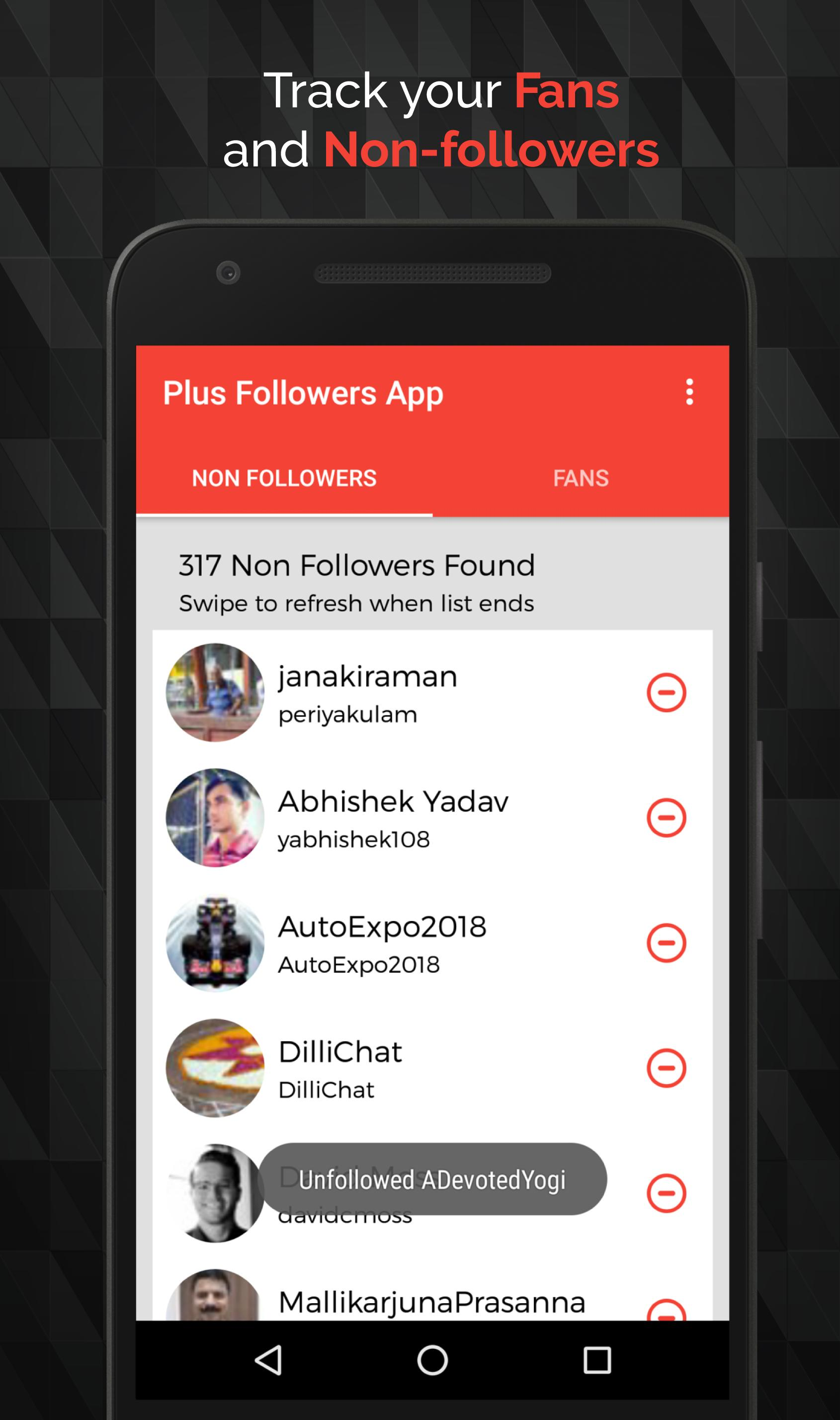Follow or Unfollow for Twitter for Android - APK Download