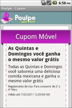 Poulpe Mobile Coupon screenshot 4