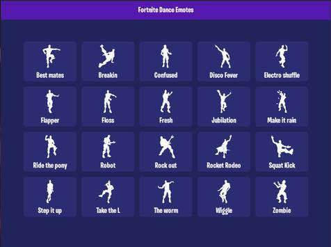 Dance Emotes For Fortnite For Android Apk Download