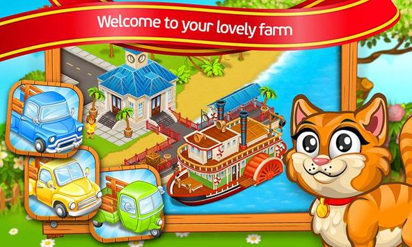 Farm Town: Cartoon Story captura de pantalla 5