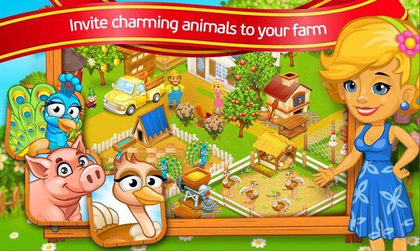 Farm Town: Cartoon Story captura de pantalla 6