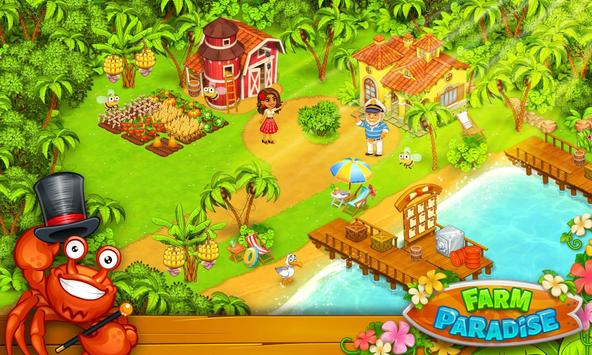 ApkMod1.Com Farm Paradise Hay Island Bay v1.8 + (Infinite Diamonds) download free Android Casual Game
