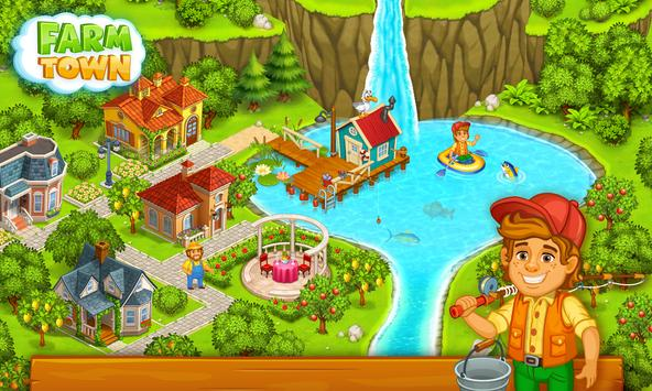 Farm Town: Happy village near small city and town apk screenshot