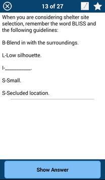 Army Survival Study Guide apk screenshot