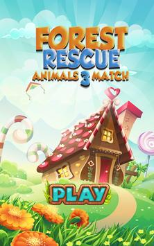 Forest Rescue: Animals Match 3 poster