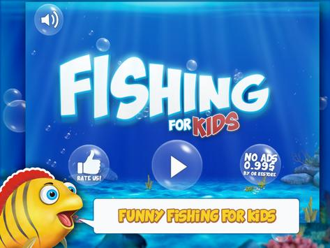 Fishing for kids and babies poster