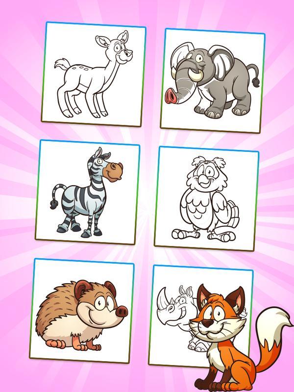 Tiere Färbung: Kinder-Spiel APK-Download - Kostenlos Lernen APP für ...