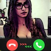 Fake Call - Mia Khalifa Prank icon