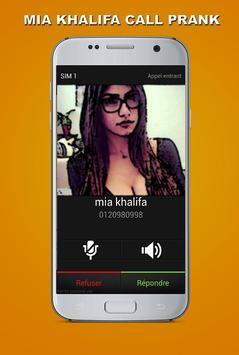 Fake Call - Mia Khalifa Prank poster