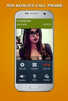 Fake Call - Mia Khalifa Prank apk screenshot