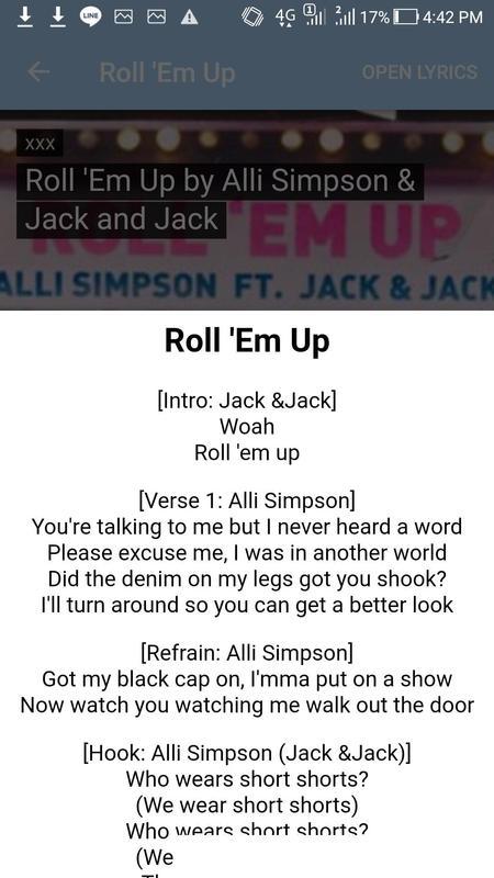 alli simpson songs