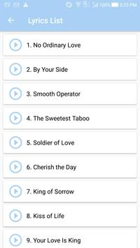 Sade: Top Songs & Lyrics for Android - APK Download