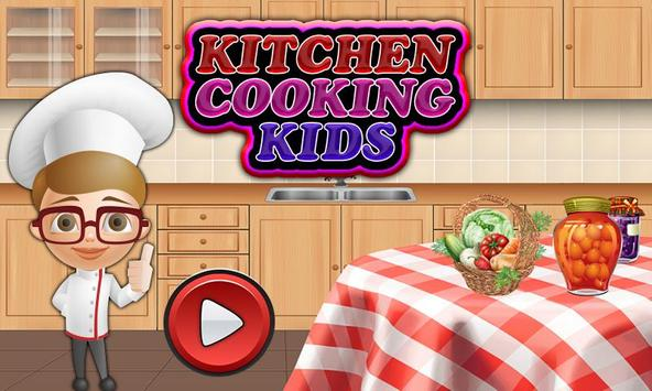 Burger making game for kids poster