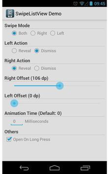SwipeListView Demo screenshot 1