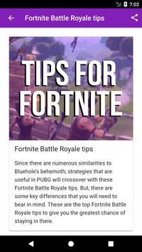Tips for Fortnite apk screenshot