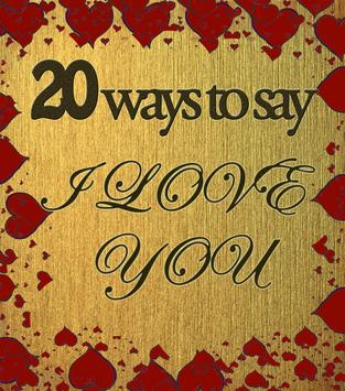 20 ways to say I Love you poster