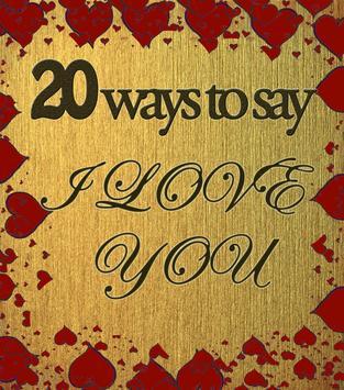 20 ways to say I Love you apk screenshot