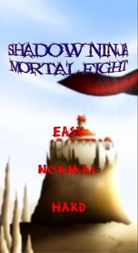 shadow ninja mortal fight puzzle game poster