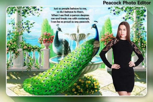 Peacock Photo Editor poster