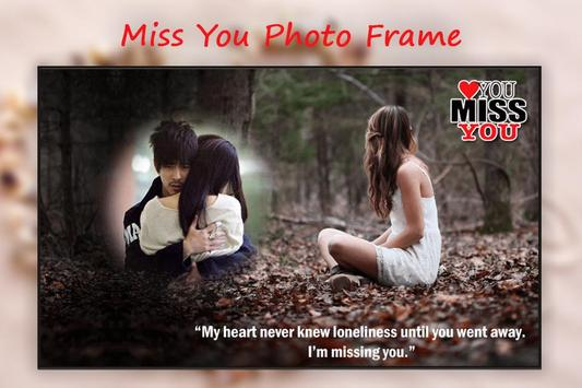 Miss You photo Frame Editor poster