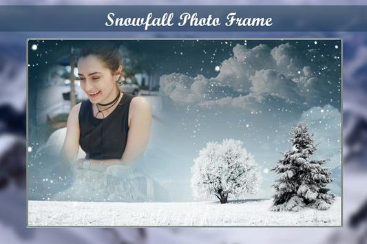 Snow Fall Photo Frame Editor poster