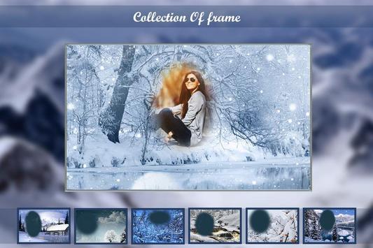 Snow Fall Photo Frame Editor apk screenshot